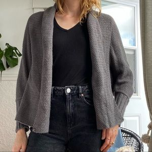 BCBG Maxazria loose fit grey knit cardigan